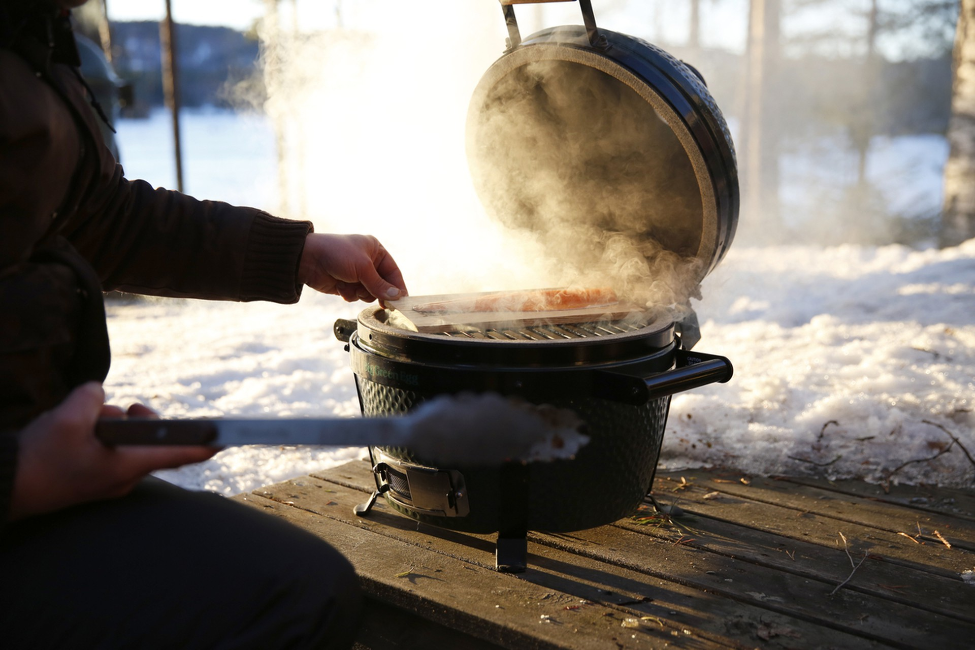 Big green egg Wintergrille